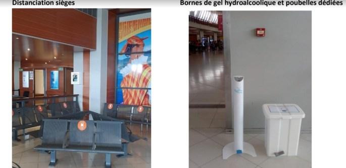 Mesures d'hygiènes renforcées à l'aéroport Aimé Césaire