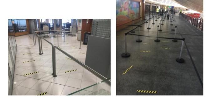 Zone d'embarquement à l'aéroport Aimé Césaire