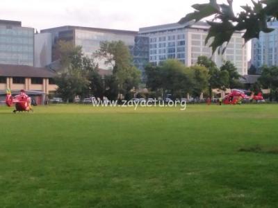 Deux hélicoptères dépêchés sur place.