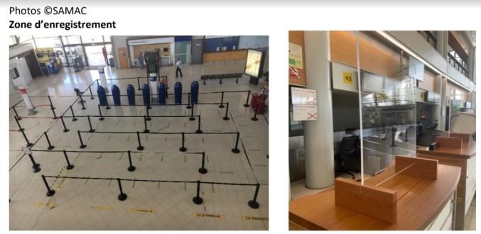 Zone d'enregistrement à l'aéroport Aimé Césaire