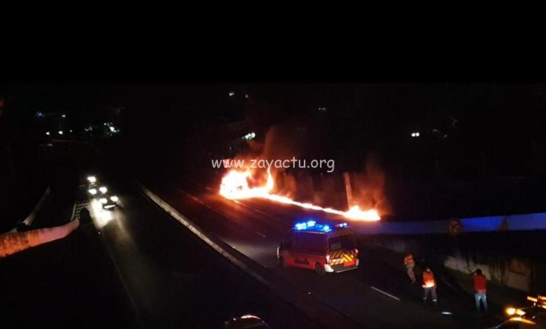 Incendie de camion sur la Rocade de Fort-de-France