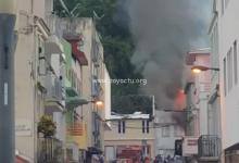 Photo de Un appartement en flamme dans l'allée du Calvaire à Fort-de-France