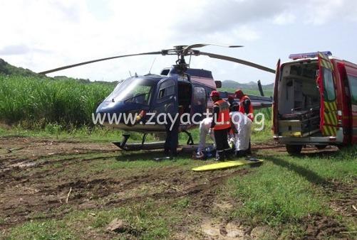 L'hélicoptère de la gendarmerie et pompier