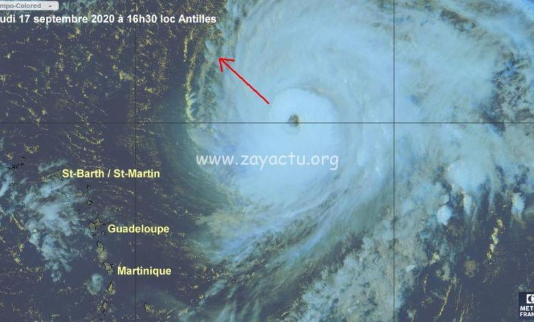 Ouragan Teddy de catégorie 4. Photo : Météo-France Antilles Guyane.