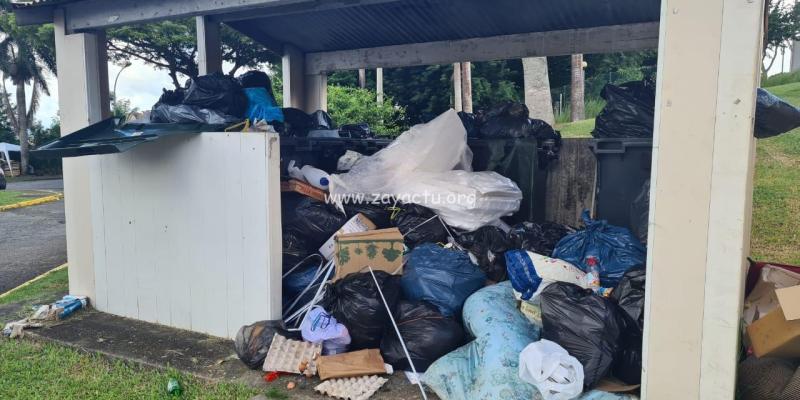 Les ordures débordent