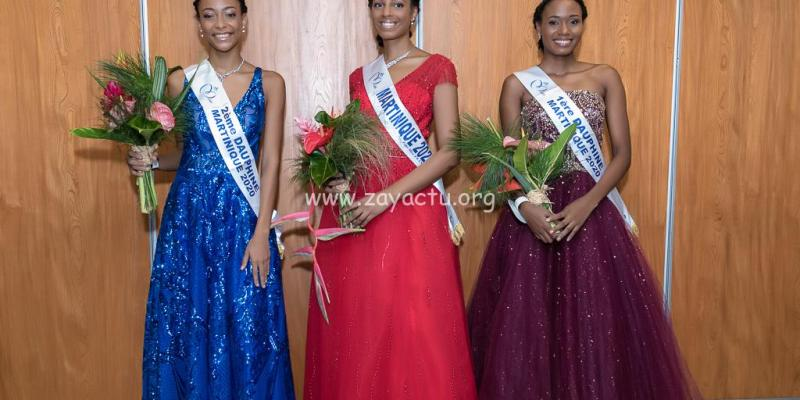 Séphorah Azur Miss Martinique 2020 avec ses dauphines.