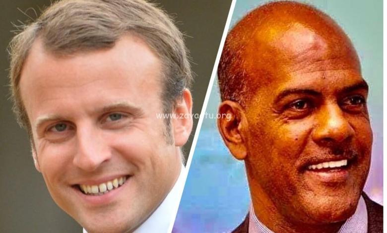 Emmanuel Macron et Serge Letchimy