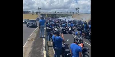 Pilotes de deux-roues, quads et passionnés d'automobile mobilisés sur les routes du centre et du sud de la Martinique