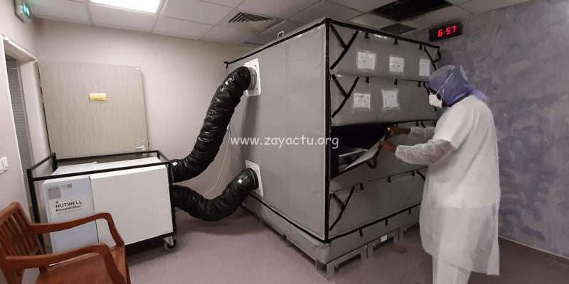 Modulaire frigorifique à la morgue