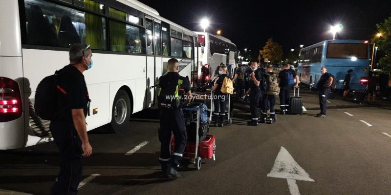 Renfort personnel de santé et pompiers