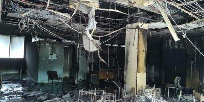 Centre de vaccination de la ville de Fort-de-France incendié.