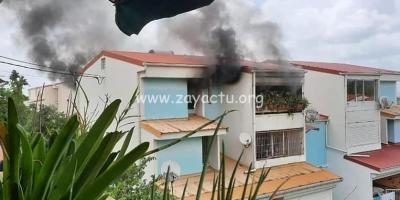 Incendie dans un appartement à Cité La Marie à Ducos