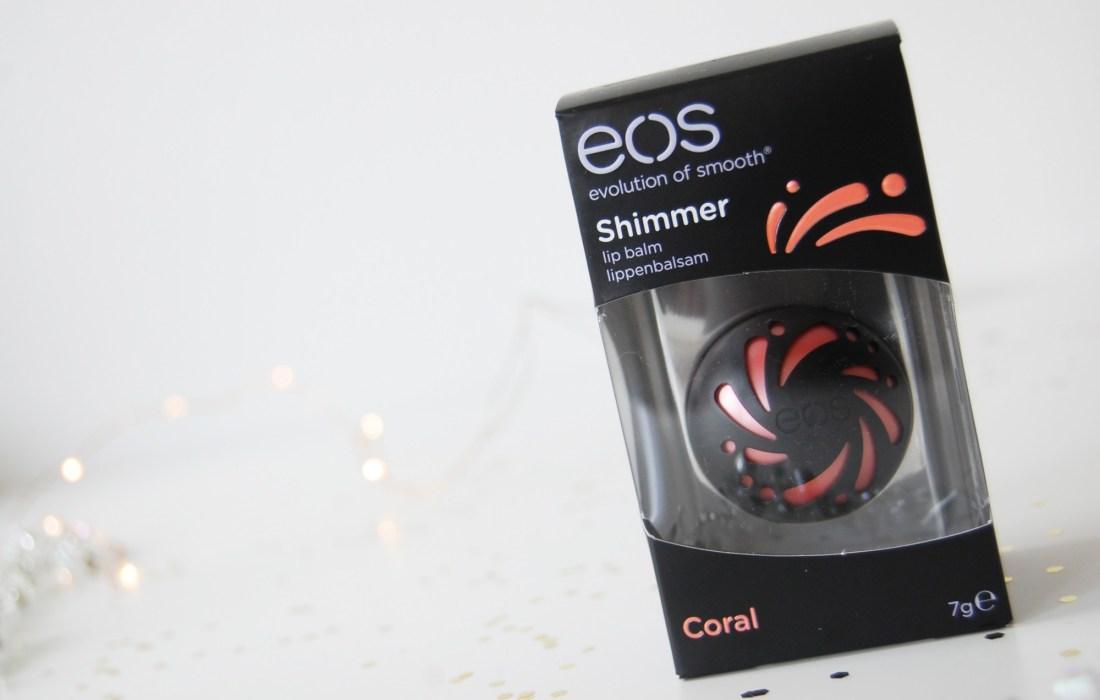eos Shimmer Coral lip balm