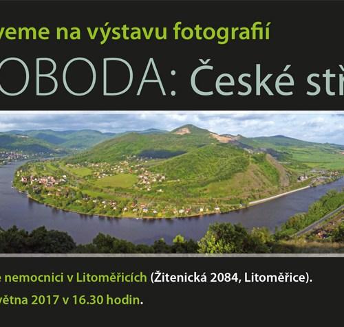 Pozvánka na výstavu České středohoří v Litoměřické nemocnici