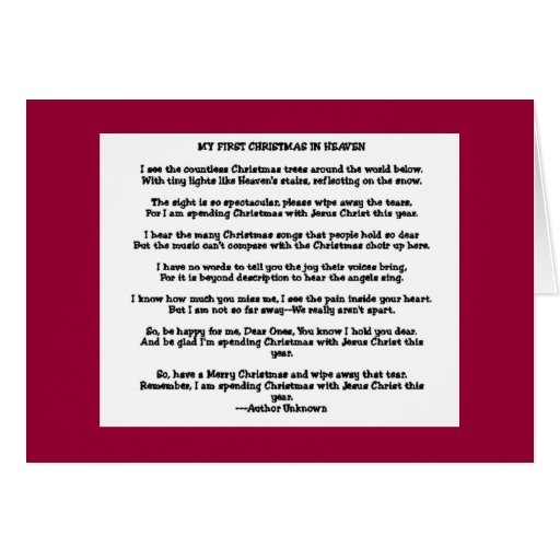 Christmas In Heaven Quotes And Poems QuotesGram