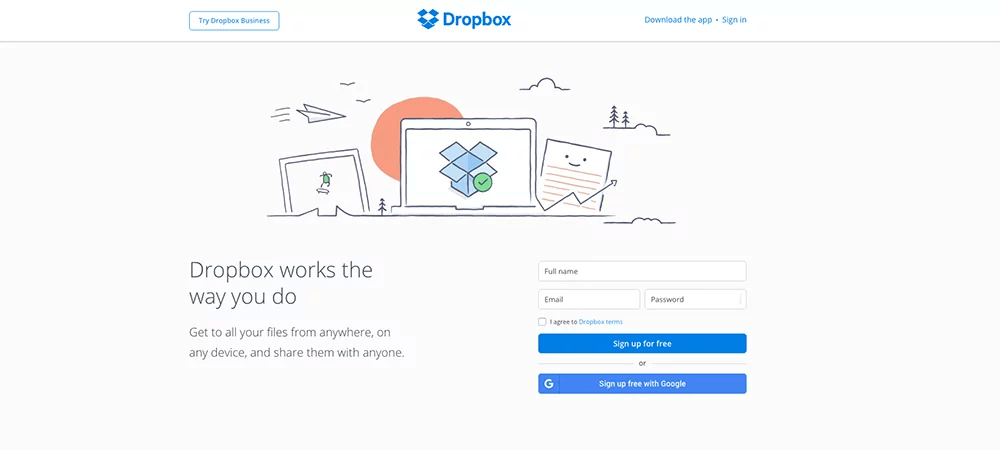 Illustration - Dropbox