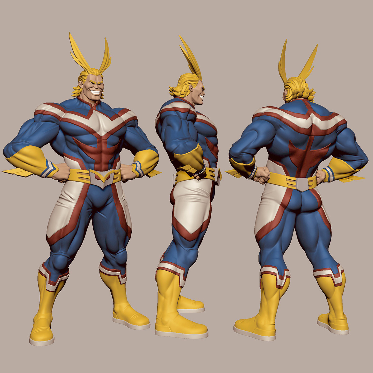 Allmight Muscle Form Zbrushcentral
