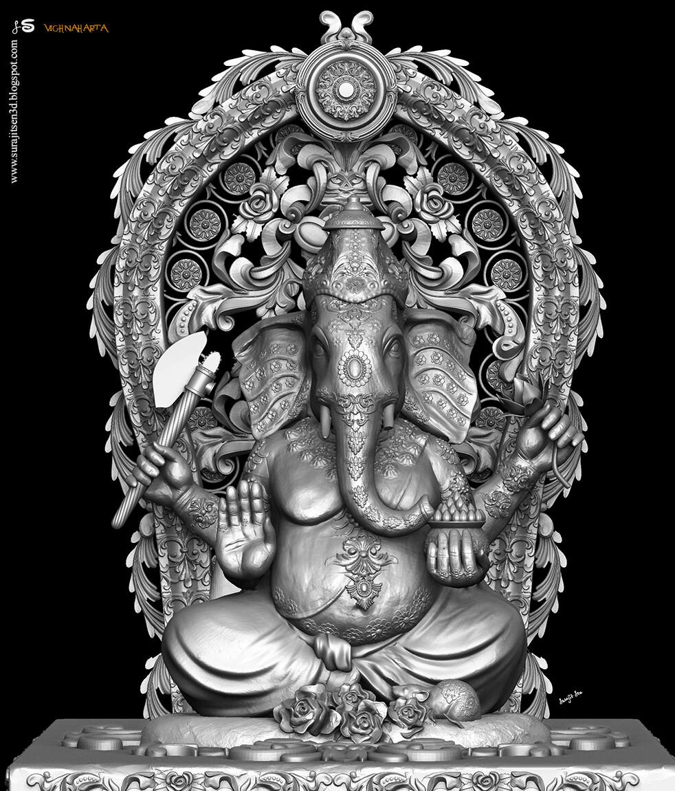 Vighnaharta_Digital_Sulpture2.0_SurajitSen_Sept2020_WIP_SNAP_L