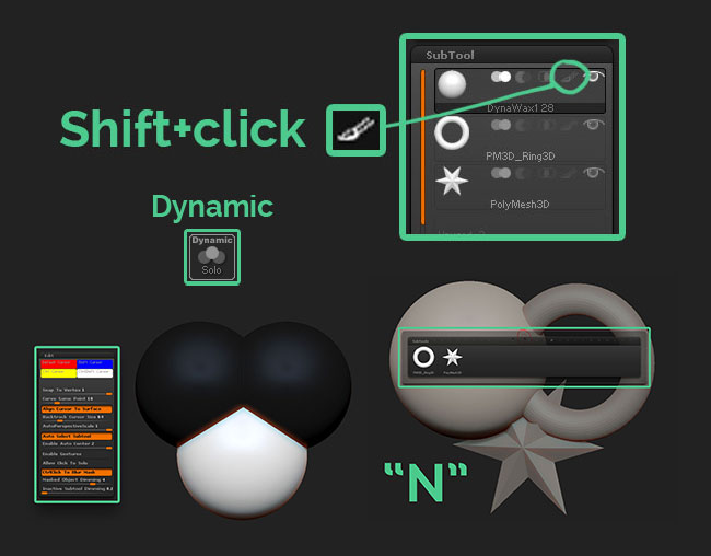 6 Tips about ZBrush Subtools | ZBrush Guides