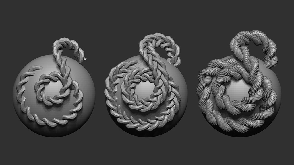 Rope curve brush | ZBrush Guides