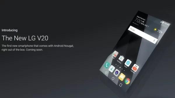 Android 7.0がプリインストールされた最初のスマホはLG V20