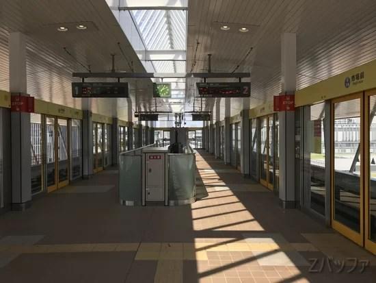 ゴースト状態の豊洲市場前駅