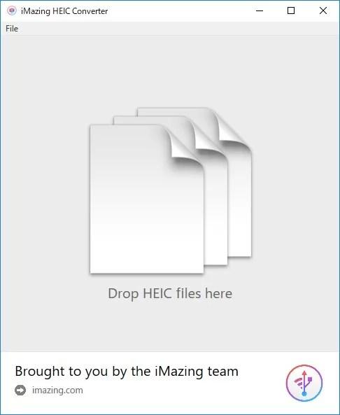 iMazing HEIC Converterの画面