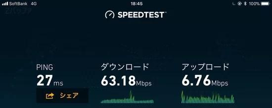 b-mobile S 190 Pad SIMの速度