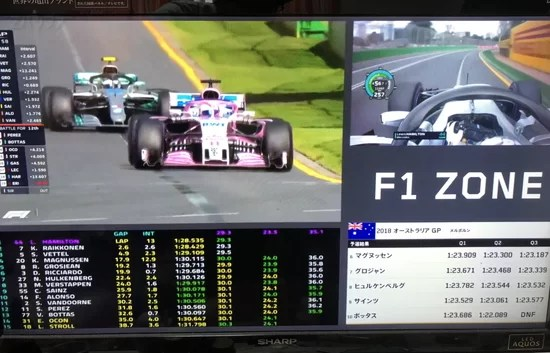 F1 ZONEの画面