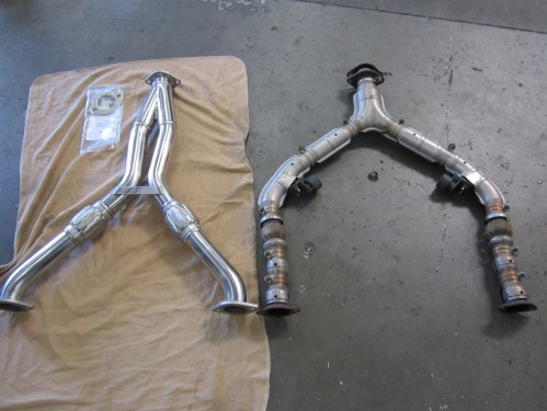 small resolution of the old exhaust system had an aftermarket y pipe that didn t significantly increase power we installed a full cat back system from fast intentions followed