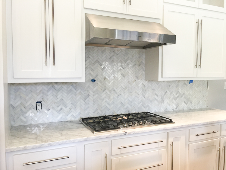 kitchen backsplash design cabinet for a transformation decision gone wrong carrara marble white herringbone 6