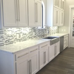 Kitchen Backsplash Photos Bronze Pull Down Faucet A Transformation Design Decision Gone Wrong Glass And Mosaic Tile White Cabinets