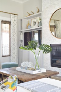 A Summer Living Room Tour - ZDesign At Home