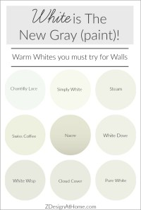 White is the New Gray (Paint)!