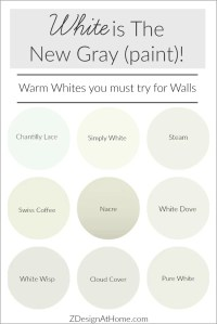 White is the New Gray (Paint)! | ZDesign At Home