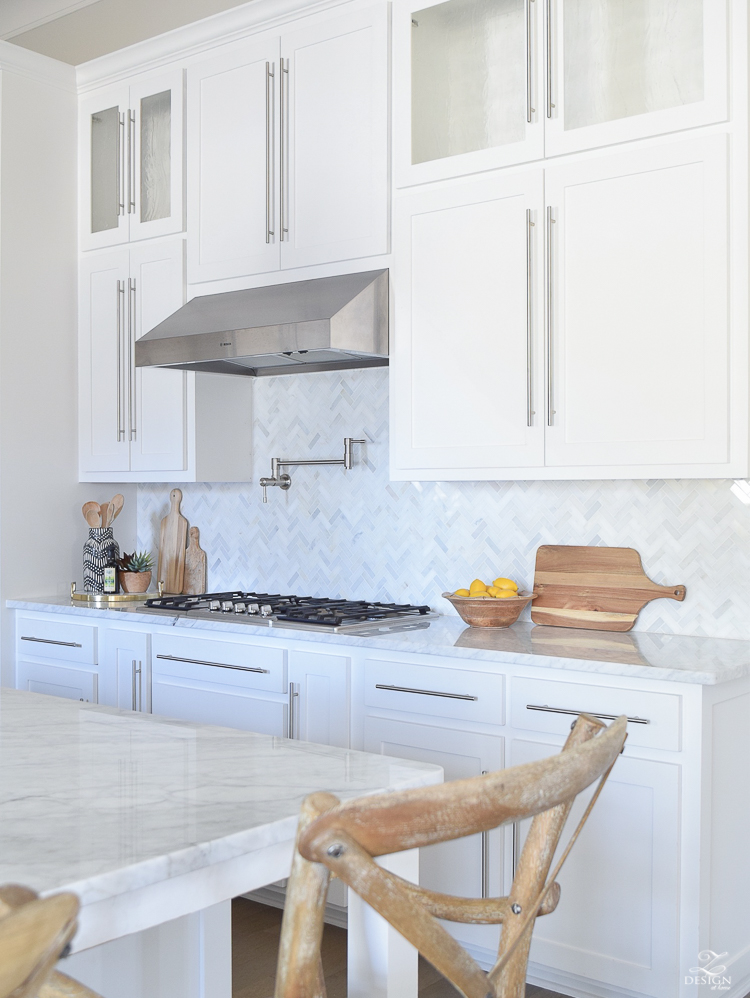 kitchen countertop decor wall tile for 9 simple tips styling your counters zdesign at home 10 the white modern farmhouse shaker cabinets