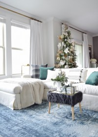 Glam Christmas Living Room Tour + Tips for Easy Holiday
