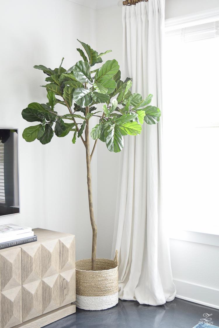 living room tree grey beige carpet the best faux fiddle leaf fig zdesign at home