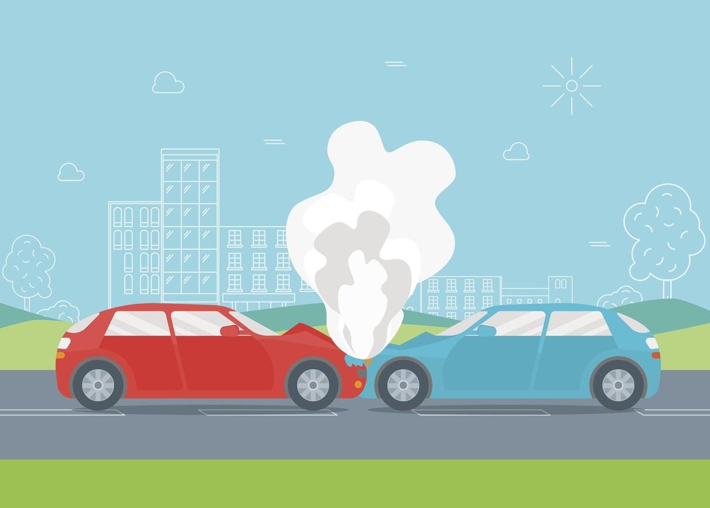 Cartoon Car Crash Or Accident Vector
