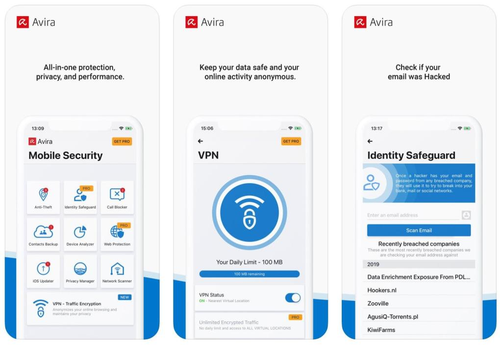 Avira Mobile Security dành cho iOS