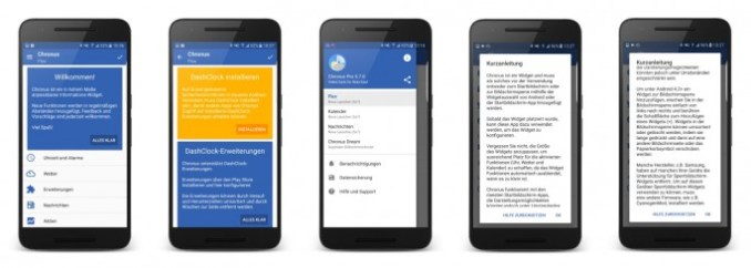 Android widget Chronus (image: ZDNet.de)