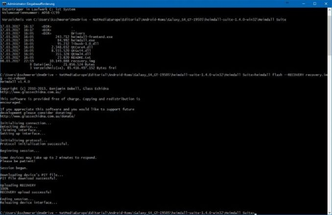 04_Samsung_Galaxy_S4_GT_I9505_jfltexx-heimdall flash-RECOVERY-recovery-img-no-reboot (image: ZDNet.de)