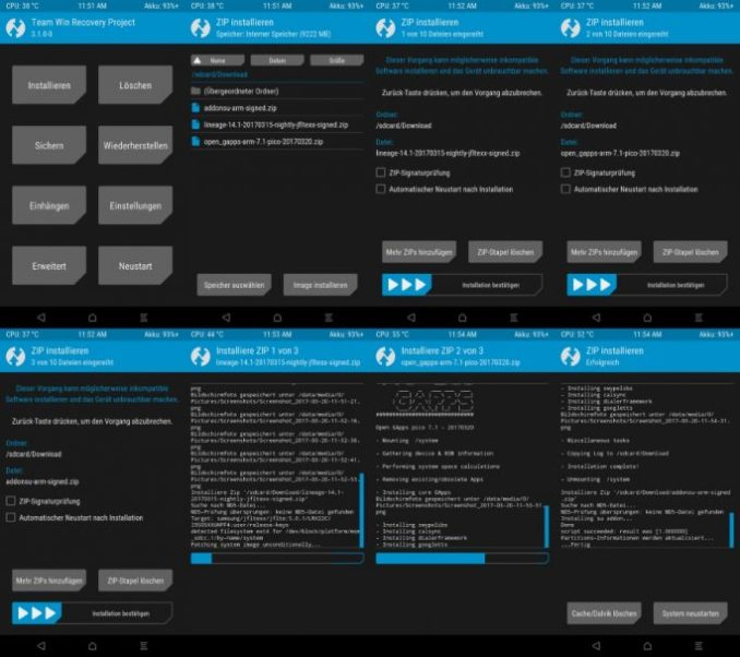 08_Samsung_Galaxy_S4_GT_I9505_jfltexx-TWRP-LineageOS_GAPPS_SuperSU Flash