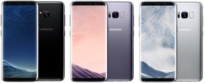 Galaxy S8: black, grey, Silver (image: Samsung)