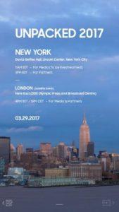 Samsung Galaxy S8: unpacked event on the 29.3 in news York (screenshot: ZDNet.de)