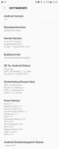 Galaxy S7: equipment of Vodafone get updates relatively quickly (screenshot: ZDNet.de)