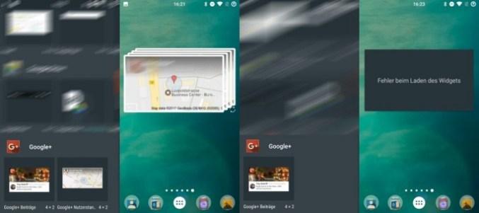 Google + 9.11 without location sharing widget (image: ZDNet.de)