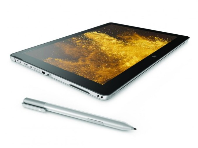 HP elite x 2 1012 G2 in tablet mode with the Optional HP active pen (image: HP Inc.)