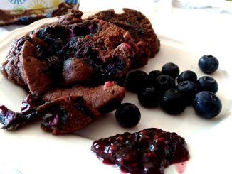 zdravý borůvkový mugcake