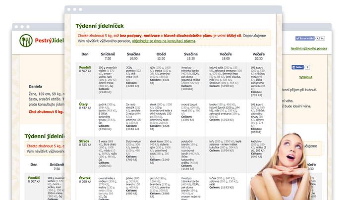 Jídelníček na hubnutí zdarma | Zdravá Výživa.net